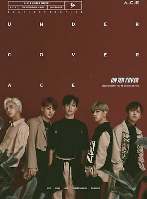 A.C.E ACE - UNDER COVER CD+Photobook+1Photocard+Cut Sticker+Poster+Tracking no.