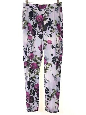 DOROTHY PERKINS floral tapered leg harem joggers trousers size 10 euro 38