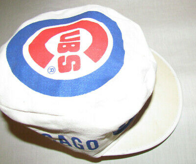 62a85eaad4eab CHICAGO CUBS Vintage Painters Hat BASEBALL 1980s! Sz-Med Small CUBS CAP HAT  VTG