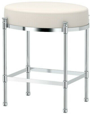 Stupendous Modern Glamorous Vanity Stool Upholstered Bench Pearl White Bralicious Painted Fabric Chair Ideas Braliciousco