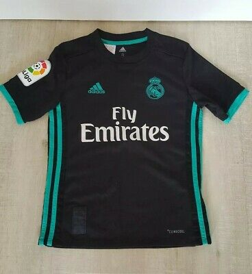 ffab59e95bc Real Madrid Away age 9-10 Football shirt 2017 18 Black Emirates Ronaldo 7