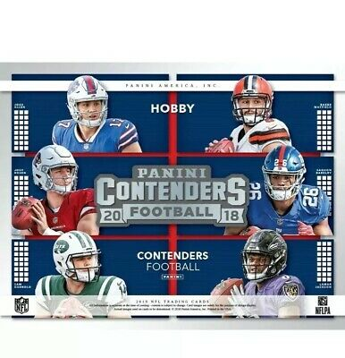 2018 Panini Contenders Football 12-Box Hobby Case Factory Sealed Brand New