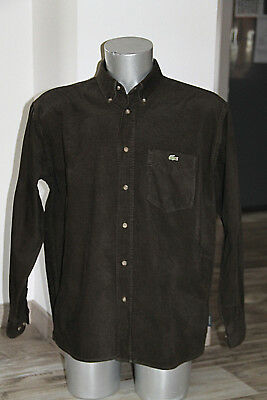 Pretty Shirt Velvet Crew Khaki Dark Lacoste Size 44 in Perfect Condition