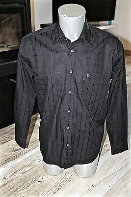 Luxurious Black Shirt Chequered Man Kenzo Paris Size L like New