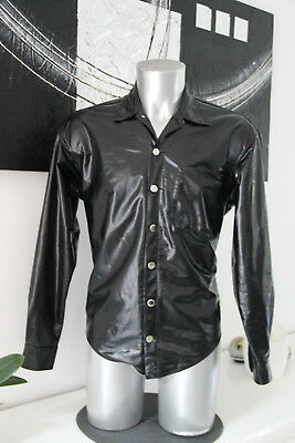 Luxurious Shirt Chic Black Vinyl Flexible Patrive Catanzaro Size 1 New