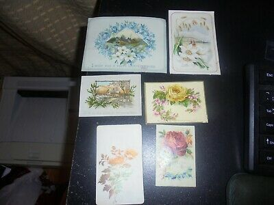 c 1900 Collection of 18 antique, mostly Victorian Christmas Cards