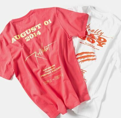 Red Velvet Smtown Giftshop Official Goods Artist Track T-Shirt T-Shirts New