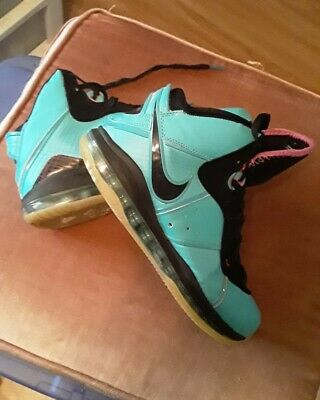 new concept be5d4 7e7af CLEAN Nike Lebron 8 VIII Pre Heat South Beach Size 12 417098 401 Teal Pink