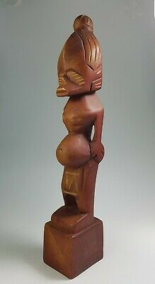 15cm Japanese Hand Carved Wood Doll Man Sculpture Statue Decor VTG AC16