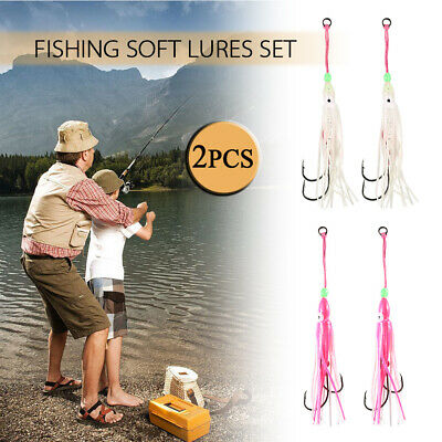 Saltwater Octopus Bait hook Soft Silicone Squid Skirt Lure Fishing Tackle