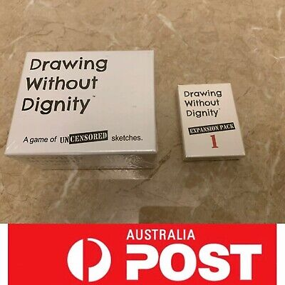 Drawing Without Dignity, Main card or Expansion, Funny board game, AU stock, Exp