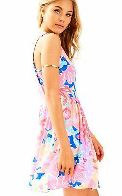 9d600b1bec4b LILLY PULITZER BENICIA Open Cold Shoulder Multi Playa Hermosa Swing ...