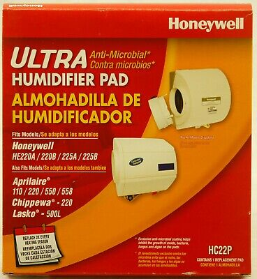 set of 2 new-in-box honeywell ultra anti-microbial humidifier pads hc22p