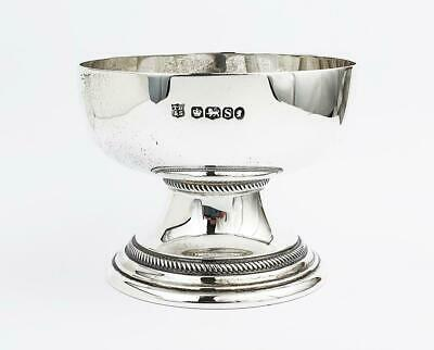Antique LARGE STERLING SILVER SALT CELLAR Sheffield 1935 - 18th Century Style