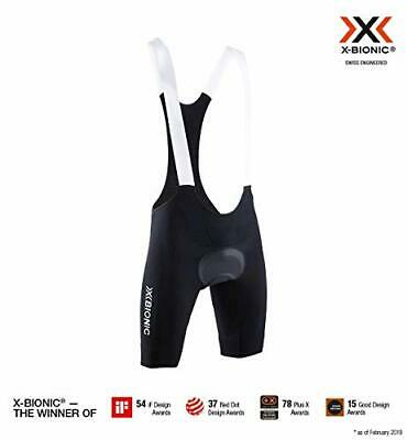 X-Bionic Invent Bike Race Bib Padded Shorts, Mujer, Opal Black/Arctic White, XX