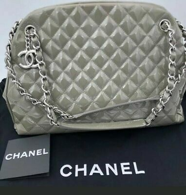 316fae3d9e97 Gorgeous Pre-Loved 100% Authentic Chanel Patent Leather Quilted Mademoiselle  Bag