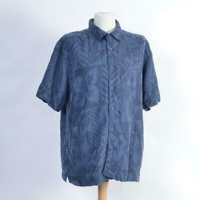 Quicksilver Waterman Collection Hawaiian Beach Shirt | Blue | Size XL