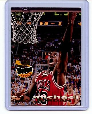 b0e325c03f344c Michael Jordan 1993 Stadium Club Basketball Frequent Flyers Card  181 Bulls  Shar