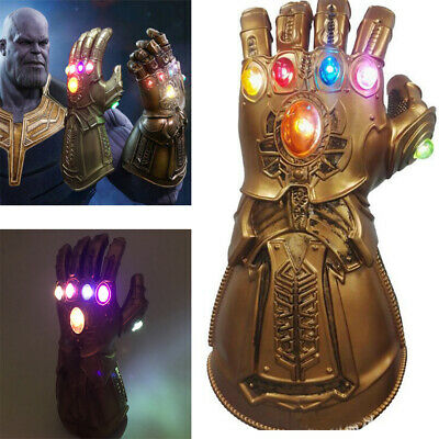 Avengers Infinity War Thanos LED Light Gauntlet Gloves Cosplay Costume Prop