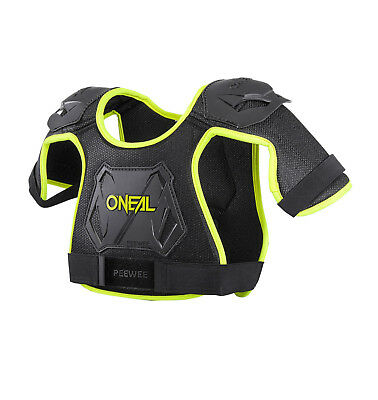 New 18 XS S Neon Yellow 2-5yrs Kids ONeal PeeWee Body Armour Motocross ATV Child