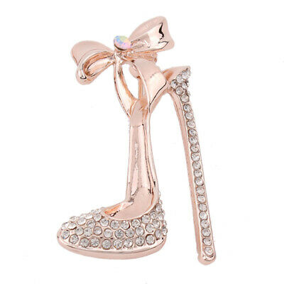 High Heel Shoes Crystal Rhinestone Women Broaches Brooch Pins Party Accessories