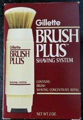 Gillette Brush Plus Shaving System Brush & Concentrate Refill Vintage NEW NIB