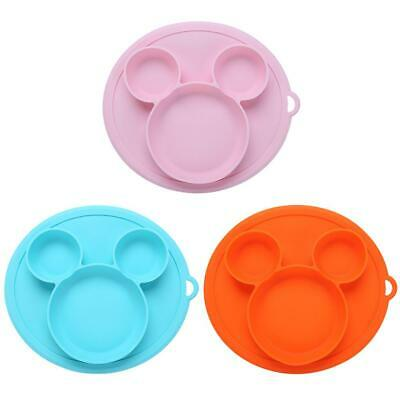Kids Safe Silicone Dinner Plate Bowl Suction Baby Tableware Baby Feeding Dish