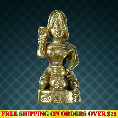 Powerful Holy Lucky Paladkik Nang Kwak Goddess Good Trade Amulet Wealth Talisman