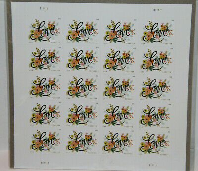 USPS Love Flourishes Forever Wedding Stamps (1 Sheet) 20 Stamps