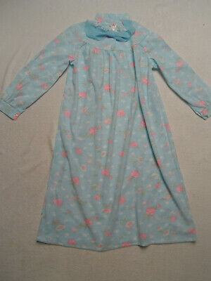 Vintage Blue Floral Bri-Nylon Night Dress