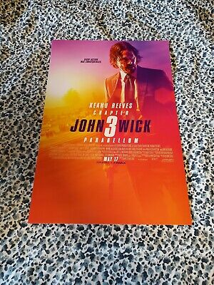 JOHN WICK CHAPTER 3 PARABELLUM - 13.5x20 INCH MOVIE POSTER 2019 FILM BRAND NEW!