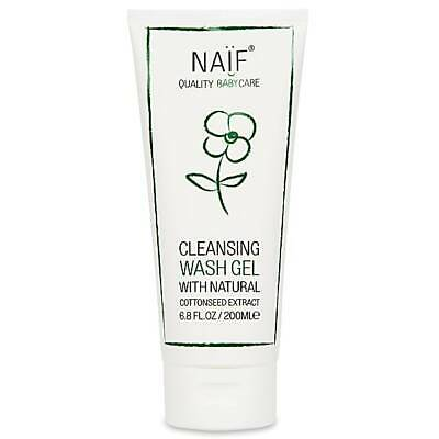 Naif Quality Baby Cleansing Wash Gel With Natural Cottonseed Extract 200ml/6.8oz