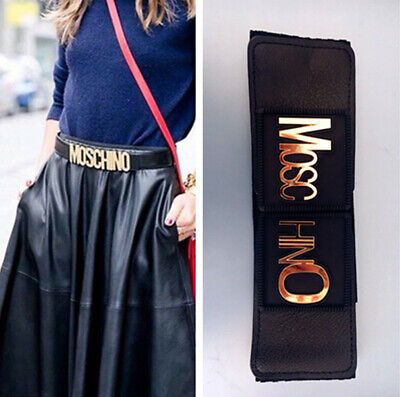 Gold M Lady Wide Fashion Belt Women Black Cinch Waist Belt Elastic Stretch Gifts