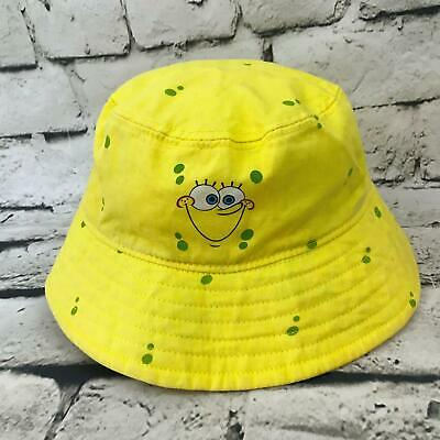 478d84a9144e1 Nickelodeon Spongebob Squarepants Toddler Hat Yellow Spotted Bucket Sun Cap