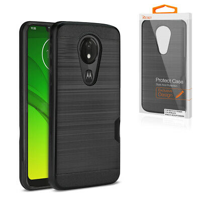 Reiko MOTOROLA MOTO G7 PLAY Slim Armor Hybrid Case With Card Holder In Red