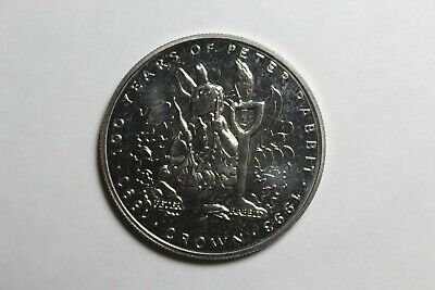 1993 Gibraltar 100 Years of Peter Rabbit 1 Crown Coin
