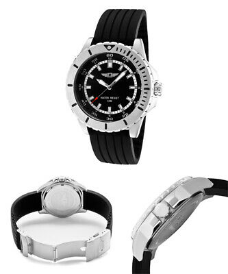 I By Invicta IBI 10004-001 Men's Watch Stainless Steel Silicone Black Band