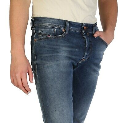 Diesel Buster Herren Jeans Slim Tapered Fit  Wash 084NS Stretch