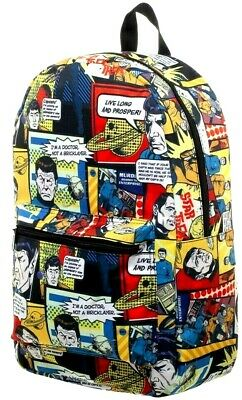 Star Trek Comic Book All Over Print Sublimated New Backpack Book Bag