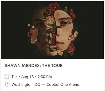 Shawn Mendes concert in Washington DC for TWO