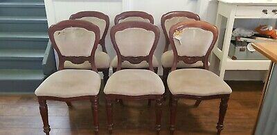 Six Antique Dining chairs. Needs Recovering.  Pick Up Kurwongbah