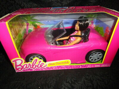 NEW Barbie Glam Convertible Glitter Pink Car with Doll - FREE SHIPPING
