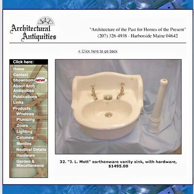 Antique porcelain sink J. L. Mott