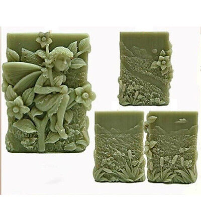 3D Fairy Soap Molds Silicone Flexible Handmade Craft Polymer Clay Candle Moulds