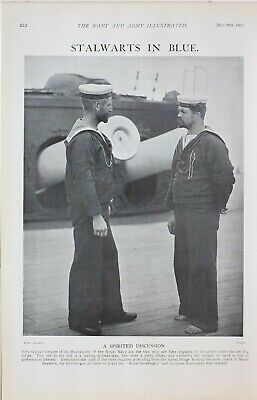 1901 Stampato Stalwarts in Blue Reale Navale Marinai Torpedo Man Petty Ufficiale