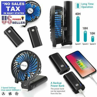 10400mAh USB Fans Battery Operated Fan Portable Handheld With 10-40 Hours
