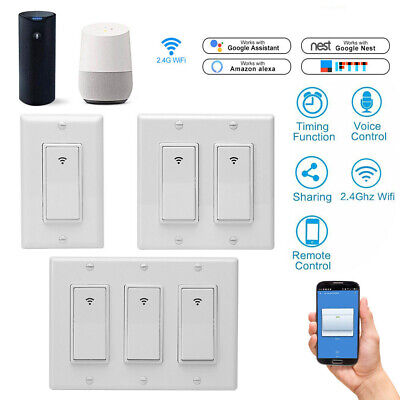 WI-FI WALL SWITCH Compatible with Alexa, Google Home, IFTTT(Tuya
