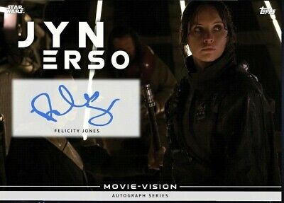 Topps Star Wars Card Trader Jyn Erso Tele-Vision Autograph - Blue
