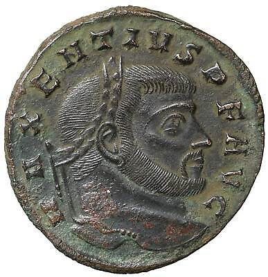 Maxentius Follis old ancient roman coin Rome Empire Imperial coins Authentic
