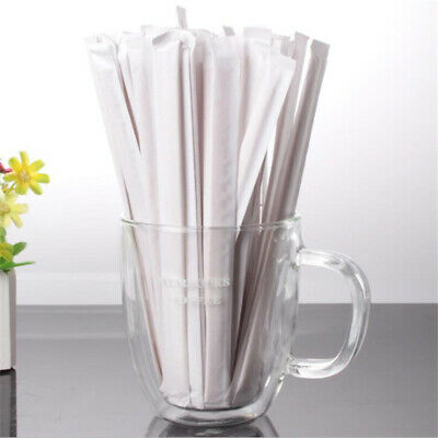 100X Packaged Coffee Wooden Stirrer Tea Drinking Stick Disposable High QualityGS